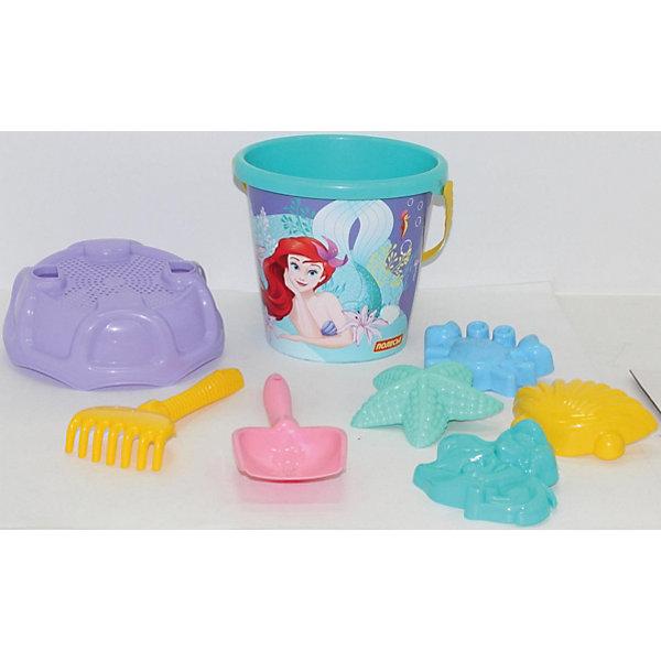Фото - Полесье Набор игрушек для песочницы Полесье Disney Русалочка № 6, 8 предметов полесье набор игрушек для песочницы 468 цвет в ассортименте