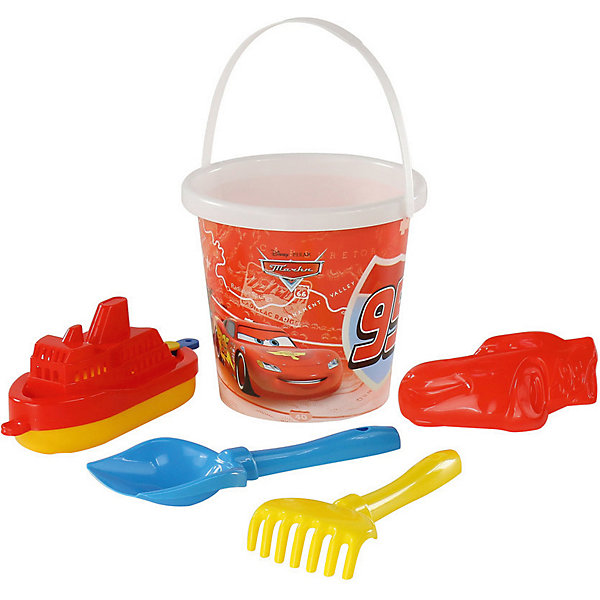Набор игрушек для песочницы Полесье Disney Pixar Тачки» № 18, 5 предметовИграем в песочнице<br>Характеристики:<br><br>• возраст: от 3 лет;<br>• материал: пластик;<br>• комплектация: ведро с наклейкой, лопатка №5, грабельки №5, формочка (Молния Маккуин), кораблик;<br>• размер: 17,8х17,2х22,5 см;<br>• вес: 197 гр;<br>• упаковка: сетка;<br>• страна бренда: Беларусь;<br>• бренд: Полесье.<br><br>Набор Disney/Pixar «Тачки» №18 порадует детей от 3 лет и старше. Он включает в себя нескольких формочек и видов «копательных» инструментов, большого ведра хватит на всех. Детишки обожают играть в песок, значит, есть идея, как их занять. Набор легко моется, изготовлен он из пластмассы, не содержит токсичных веществ. Яркие наклейки на некоторых элементах набора привлекут внимание ребенка, заинтересуют в продолжении игры.<br><br>Набор Disney/Pixar «Тачки» №18  можно купить в нашем интернет-магазине.<br>Ширина мм: 175; Глубина мм: 172; Высота мм: 225; Вес г: 193; Цвет: разноцветный; Возраст от месяцев: 36; Возраст до месяцев: 2147483647; Пол: Мужской; Возраст: Детский; SKU: 7992077;