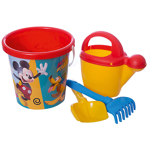 Polesie Набор игрушек для песочницы Полесье Disney Микки и Весёлые гонки» № 9, 4 предмета polesie набор игрушек для песочницы полесье disney винни и его друзья 5 3 предмета