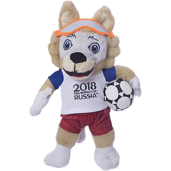 1Toy Мягкая игрушка FIFA-2018 1Toy Волк Забивака, 21 см lumo stars мягкая игрушка lumo stars волк woody 15 см серо зелёный