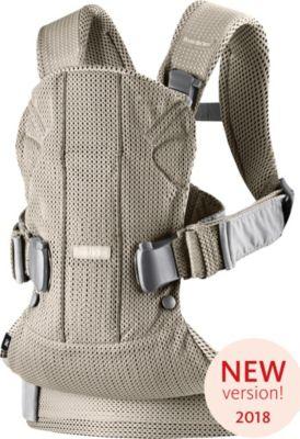 Рюкзак-переноска BabyBjorn ONE Mesh new version, серо-бежевый, артикул:7994435 - Всё для мам