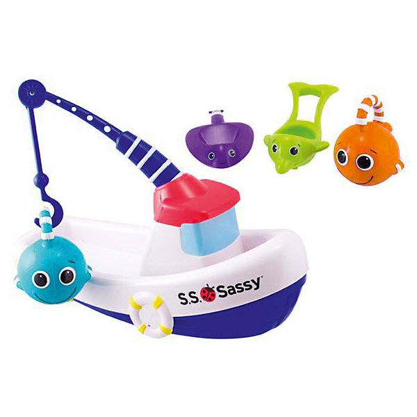 Sassy Рыболовная лодка Sassy sassy seat doorway jumper 5 toys with musical play mat
