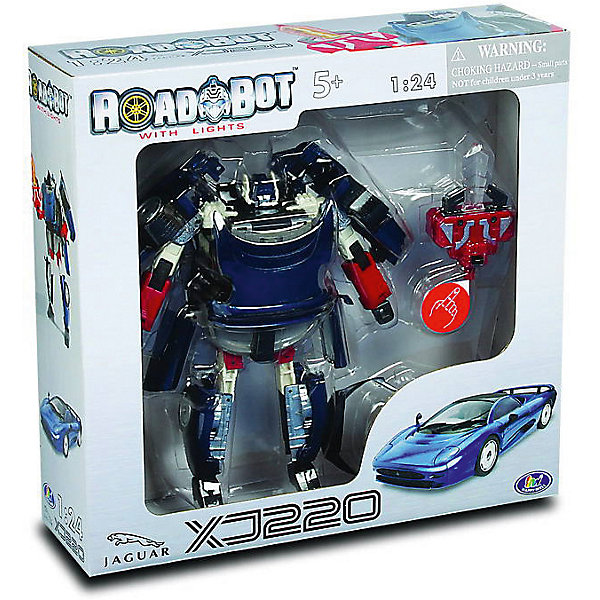 Happy Well Робот-трансформер Happy Well Jaguar XJ220 Roadbot, 1:24 фигурка happy kid робот трансформер m a r s converters valve charge