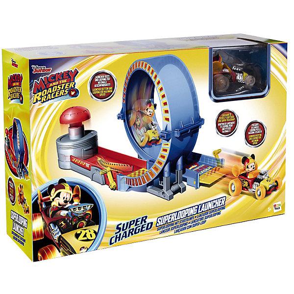 IMC Toys Disney Игровой набор Микки и весёлые гонки: трюковое кольцо (40х19х14 см, родстер) imc toys disney мягкая игрушка микки и весёлые гонки поцелуй от микки 34 см интеракт звук