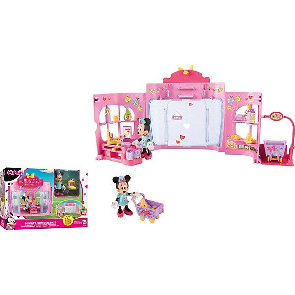 IMC Toys Disney Игровой набор Минни: Супермаркет (36 см, фиг. 8 см, аксесс.) imc toys disney игровой набор микки и весёлые гонки кемпинг палатка 12 см фиг 8 см аксесс