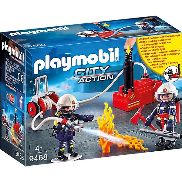 Купить Игровой набор Playmobil «Пожарная служба: пожарные с водяным насосом», PLAYMOBIL®, Унисекс