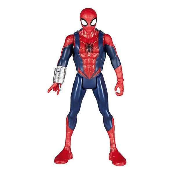 Hasbro Фигурка Marvel Spider-Man Человек-паук с интерактивным аксессуаром, 15см фигурки игрушки schleich человек паук