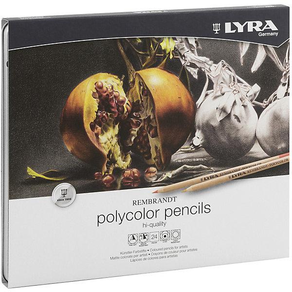 LYRA Профессиональные художественные карандаши POLYCOLOR, 24 цветов