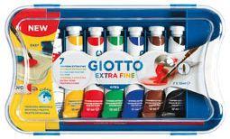 Гуашь GIOTTO экста файн, 7 цветов, артикул:8004645 - Рисование и лепка