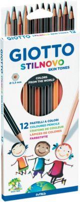 Карандаши GIOTTO имитирующие оттенки кожи человека, 12 штук, артикул:8004663 - Рисование и раскрашивание