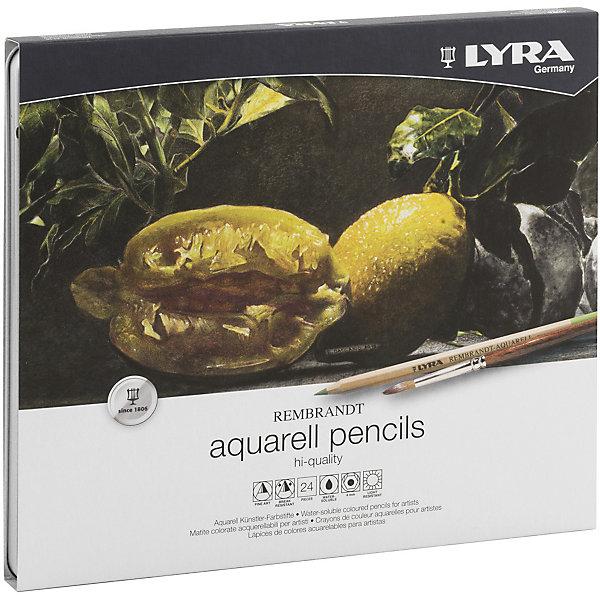 LYRA Профессиональный набор акварельных карандашей POLYCOLOR, 24 цветов lyra профессиональные художественные карандаши polycolor 12 цветов