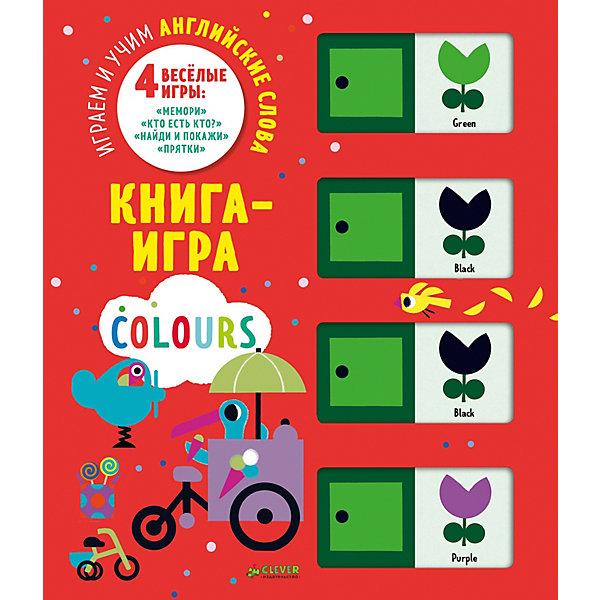 Clever Книга-игра Мемори Цвета: Играем и учим английские слова