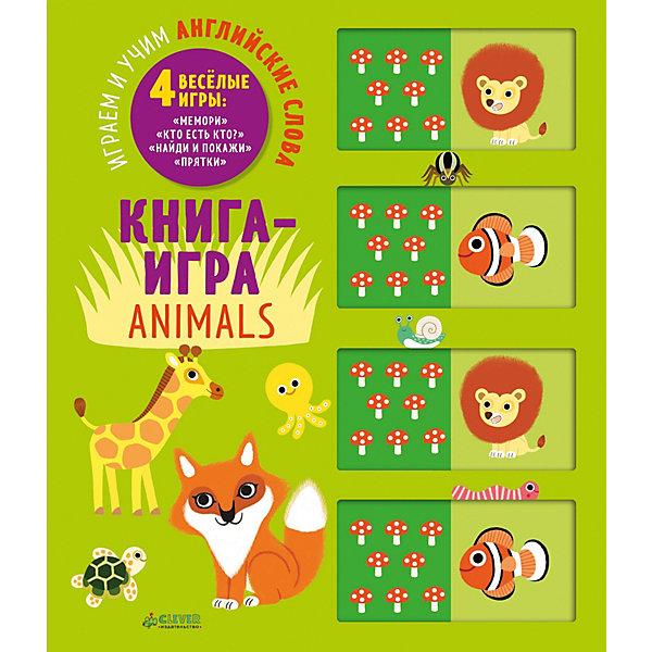 Книга-игра Мемори Животные: Играем и учим английские словаИностранный язык<br>Характеристики:<br><br>• возраст: от 3 лет;<br>• материал: бумага;<br>• переводчик: Давыдова Светлана;<br>• художник: Мати Винсент;<br>• количество страниц: 10 (картон);<br>• ISBN: 978-5-00115-157-9;<br>• размер: 28х24х2 см;<br>• вес: 735 гр;<br>• страна бренда: Россия;<br>• бренд: Клевер.<br><br>Книга «Мемори. Животные. Играем и учим английские слова»  - отличный способ поиграть с ребенком и познакомить его с простыми словами на английском языке. Просто двигайте окошки и ищите забавных зверюшек!<br><br>«Мемори» — очень полезная для малышей игра. Она способствует улучшению памяти и зрительного восприятия, тренирует внимание и усидчивость. Правила игры просты: выдвигаем окошки-слайдеры с изображениями, затем предлагаем ребенку их запомнить. После того как запомнили, задвигаем слайдер обратно и предлагаем малышу найти спрятанные изображения.<br><br>Книгу «Мемори. Животные. Играем и учим английские слова» можно купить в нашем интернет-магазине.<br>Ширина мм: 280; Глубина мм: 240; Высота мм: 20; Вес г: 730; Возраст от месяцев: 0; Возраст до месяцев: 36; Пол: Унисекс; Возраст: Детский; SKU: 8005037;