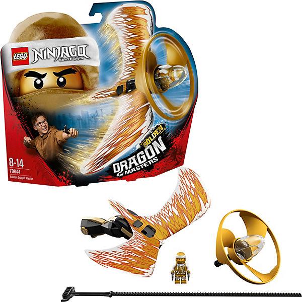 Фигурка с пусковым устройством LEGO Ninjago 70644: Мастер Золотого драконаLEGO NINJAGO<br>Характеристики:<br><br>• возраст: от 8 лет;<br>• материал: пластик;<br>• серия Lego: Ninjago;<br>• количество деталей: 92;<br>• в наборе: мини-фигурка, капсула, спинер с пусковым устройством;<br>• вес упаковки: 230 гр.;<br>• размер упаковки: 6х29х25 см;<br>• страна бренда: Дания. <br><br>Конструктор Lego Ninjago «Мастер золотого дракона» представляет фигурку героя мультсериала и стреляющее устройство. Мини-фигурка помещается в капсулу спинера, которая крепится к дракону на пусковой установке. Достаточно быстро потянуть за специальный тросик, чтобы запустить героя в полет.<br><br>Особенности и функционал:<br><br>• красочный дизайн в стиле мультсериала «Ниндзяго. Мастера кружитцу»;<br>• можно использовать в качестве бластера и стрелять по целям;<br>• собрав всю коллекцию серии, можно соревноваться с друзьями в игре «Полет дракона».<br><br>Lego «Мастер золотого дракона» можно купить в нашем интернет-магазине.<br>Ширина мм: 259; Глубина мм: 299; Высота мм: 66; Вес г: 228; Возраст от месяцев: 72; Возраст до месяцев: 144; Пол: Мужской; Возраст: Детский; SKU: 8005734;