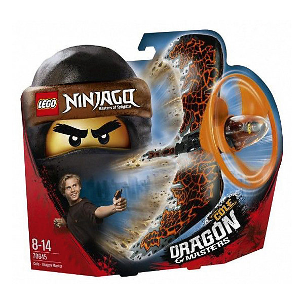 LEGO Фигурка с пусковым устройством Ninjago 70645: Коул - Мастер дракона