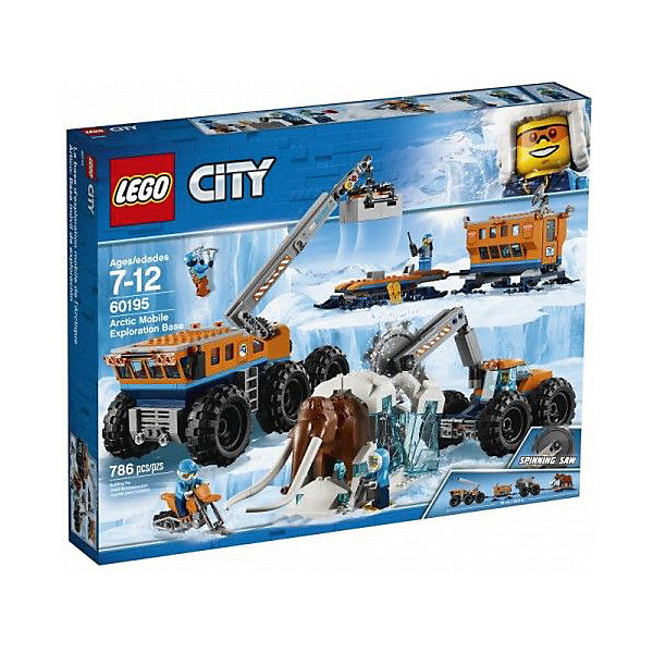 LEGO Конструктор LEGO City Arctic Expedition 60195: Передвижная арктическая база lego конструктор lego city arctic expedition 60195 передвижная арктическая база