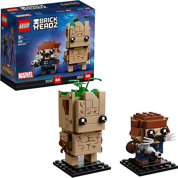 LEGO Сборная фигурка LEGO BrickHeadz 41626: Грут и Ракета фигурки pavone фигурка девушка pavone