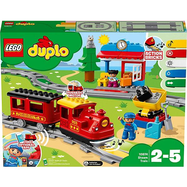 LEGO Конструктор DUPLO Town 10874: Поезд на паровой тяге