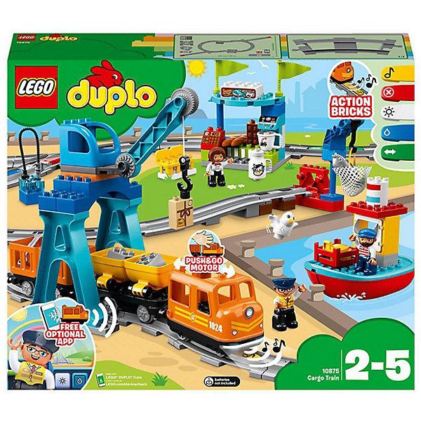 LEGO Конструктор LEGO DUPLO Town 10875: Грузовой поезд lego duplo town 10874 поезд на паровой тяге конструктор уцененный товар 96