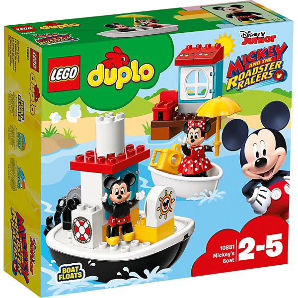 LEGO Конструктор LEGO DUPLO Disney 10881: Катер Микки фигурки disney traditions фигурка микки и минни маус с колокольчиками с рождеством