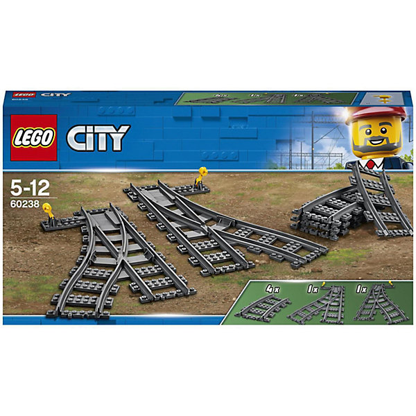 Конструктор LEGO City 60238: Железнодорожные стрелки, Унисекс  - купить со скидкой