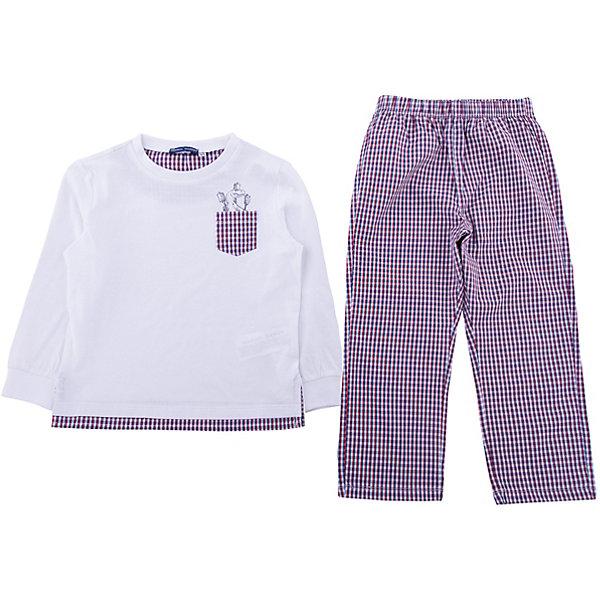Пижама Original MarinesПижамы и сорочки<br>Характеристики товара:<br><br>• цвет: белый<br>• комплектация: лонгслив, брюки<br>• состав ткани: 100% хлопок<br>• сезон: круглый год<br>• пояс: резинка<br>• длинные рукава<br>• страна бренда: Италия<br><br>Оригинальная детская пижама украшена принтом, который нравится детям. Брюки от пижамы для ребенка и лонгслив хорошо сочетаются между собой, а также могут комбинироваться с другими вещами. Такая детская пижама создает комфортные условия для тела ребенка благодаря натуральному хлопку. <br><br>Пижаму Original Marines (Ориджинал Маринс) можно купить в нашем интернет-магазине.<br>Ширина мм: 281; Глубина мм: 70; Высота мм: 188; Вес г: 295; Цвет: белый; Возраст от месяцев: 48; Возраст до месяцев: 60; Пол: Мужской; Возраст: Детский; Размер: 104/110,92/98,152/158,140/146,128/134,116/122; SKU: 8016239;