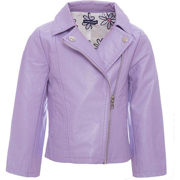 Куртка Original Marines для девочкиВерхняя одежда<br>Характеристики товара:<br><br>• цвет: лиловый<br>• состав ткани: 100% вискоза<br>• подкладка: 100% полиэстер<br>• утеплитель: 100% полиуретан<br>• сезон: демисезон<br>• температурный режим: от +10 до +20<br>• особенности модели: без капюшона<br>• застежка: молния<br>• страна бренда: Италия<br><br>Параметры изделия:<br>• Длина внутреннего шва рукава: 34 см<br>• Длина внешнего шва рукава: 46,5 см<br>• Длина спинки: 42,5 см<br>• Ширина от плеча до плеча: 28,5 см<br>• Ширина спинки от подмышки до подмышки: 35,5 см<br><br>Эта детская куртка с косой молнией сделана из качественного материала. Куртка для ребенка стильно смотрится. Детская ветровка создает комфортные условия в прохладную погоду и удобно сидит по фигуре.<br><br>Куртку Original Marines (Ориджинал Маринс) для девочки можно купить в нашем интернет-магазине.