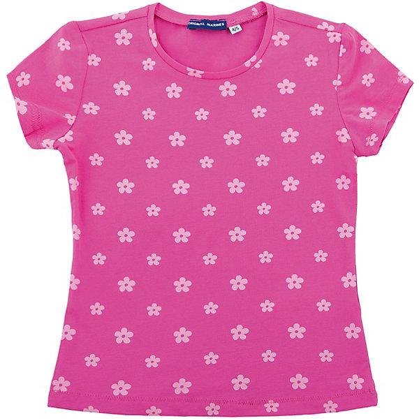 Футболка Original Marines для девочкиФутболки, поло и топы<br>Характеристики товара:<br><br>• цвет: розовый<br>• состав ткани: 92% хлопок, 8% эластан<br>• сезон: лето<br>• короткие рукава<br>• страна бренда: Италия<br><br>Хлопковая футболка для ребенка - это основа для создания множества вариантов стильных нарядов. Детская футболка дополнена мягкой окантовкой ворота. Футболка для детей от итальянского бренда Original Marines - качественная вещь, созданная европейскими дизайнерами.<br><br>Футболку Original Marines (Ориджинал Маринс) для девочки можно купить в нашем интернет-магазине.<br>Ширина мм: 199; Глубина мм: 10; Высота мм: 161; Вес г: 151; Цвет: розовый; Возраст от месяцев: 48; Возраст до месяцев: 60; Пол: Женский; Возраст: Детский; Размер: 104/110,92/98,152/158,140/146,128/134,116/122; SKU: 8016569;