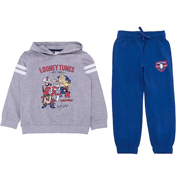 Спортивный костюм Original MarinesСпортивная одежда<br>Характеристики товара:<br><br>• цвет: серый<br>• комплектация: толстовка, брюки<br>• состав ткани: 100% хлопок<br>• сезон: демисезон<br>• особенности модели: с капюшоном, спортивный стиль<br>• пояс: резинка, шнурок<br>• длинные рукава<br>• страна бренда: Италия<br><br>Практичный спортивный костюм для ребенка сделан из натурального качественного материала. Детский спортивный костюм комфортно сидит, не вызывает неудобств. Удобный спортивный костюм обеспечит ребенку комфорт благодаря продуманному крою. <br><br>Спортивный костюм Original Marines (Ориджинал Маринс) можно купить в нашем интернет-магазине.<br>Ширина мм: 247; Глубина мм: 16; Высота мм: 140; Вес г: 225; Цвет: серый; Возраст от месяцев: 48; Возраст до месяцев: 60; Пол: Мужской; Возраст: Детский; Размер: 104/110,92/98,152/158,140/146,128/134,116/122; SKU: 8017265;