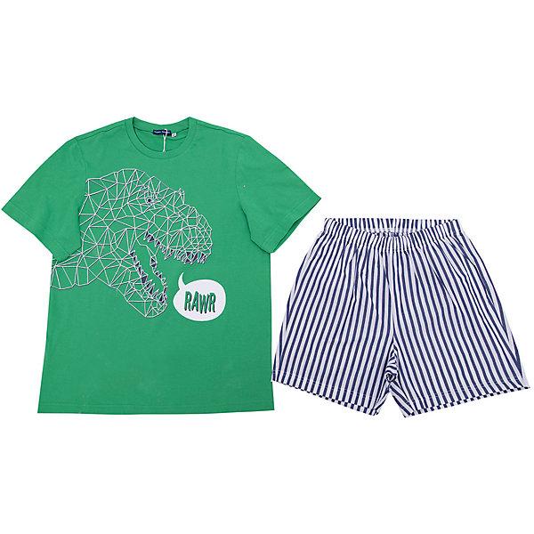 Пижама Original MarinesПижамы и сорочки<br>Характеристики товара:<br><br>• цвет: зеленый<br>• комплектация: футболка, шорты<br>• состав ткани: 100% хлопок<br>• сезон: круглый год<br>• застежка: кнопки<br>• пояс: резинка<br>• короткие рукава<br>• страна бренда: Италия<br><br>Мягкая детская пижама легко надевается благодаря эластичному материалу и мягкой резинке. Шорты от пижамы для ребенка не давят на живот - в них комфортная резинка. Такая детская пижама создает комфортные условия на протяжении всей ночи и позволяет коже дышать. <br><br>Пижаму Original Marines (Ориджинал Маринс) можно купить в нашем интернет-магазине.<br>Ширина мм: 281; Глубина мм: 70; Высота мм: 188; Вес г: 295; Цвет: зеленый; Возраст от месяцев: 132; Возраст до месяцев: 144; Пол: Мужской; Возраст: Детский; Размер: 152,176,164; SKU: 8018561;