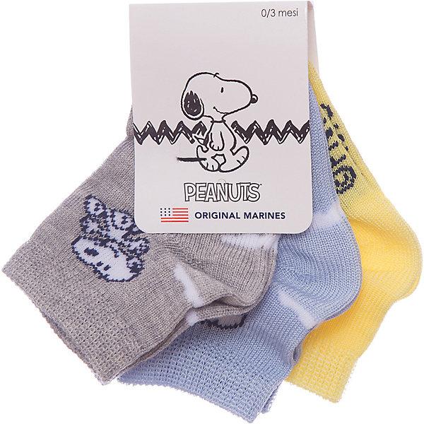 Носки 3 пары Original MarinesНоски<br>Характеристики товара:<br><br>• цвет: голубой<br>• комплектация: 3 пары<br>• состав ткани: 75% хлопок, 25% полиэстер<br>• сезон: круглый год<br>• страна бренда: Италия<br><br>Яркие детские носки комфортно держатся на ноге благодаря мягкой резинке. Такие носки для ребенка сделаны из дышащего эластичного материала. Этот набор включает в себя три пары носков для детей от итальянского бренда Original Marines.<br><br>Носки 3 пары Original Marines (Ориджинал Маринс) можно купить в нашем интернет-магазине.<br>Ширина мм: 87; Глубина мм: 10; Высота мм: 105; Вес г: 115; Цвет: голубой; Возраст от месяцев: 0; Возраст до месяцев: 3; Пол: Мужской; Возраст: Детский; Размер: 15,20/21,18/19,16/17,19; SKU: 8018914;