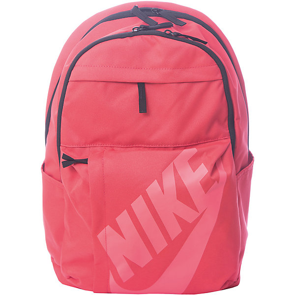 Рюкзак NIKEЧемоданы и дорожные сумки<br>Характеристики товара:<br><br>• цвет: розовый;<br>• модель: Sportswear Elemental;<br>• состав: 100% полиэстер;<br>• сезон: круглый год;<br>• застёжка: молния;<br>• количество отделений: 2;<br>• внешний карман на молнии;<br>• мягкие регулируемые лямки и задняя вставка для поддержки;<br>• большое основное отделение с двойной молнией для надежного хранения;<br>• два боковых кармана;<br>• ручка для переноски;<br>• большой принт с логотипом Nike на переднем кармане;<br>• размер рюкзака: 32х45х20 см;<br>• страна бренда: США.<br><br>Удобный и вместительный рюкзак Nike Sportswear Elemental — новая версия классической модели. Это прочная конструкция с двумя большими отделениями и двумя внешними карманами для хранения мелочей, а также мягкими лямками для поддержки и комфорта. <br><br>Рюкзак Nike (Найк) можно купить в нашем интернет-магазине.<br>Ширина мм: 227; Глубина мм: 11; Высота мм: 226; Вес г: 350; Цвет: разноцветный; Возраст от месяцев: 168; Возраст до месяцев: 1188; Пол: Унисекс; Возраст: Детский; Размер: one size; SKU: 8020236;