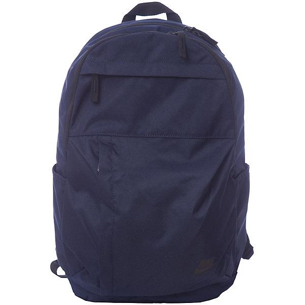Рюкзак NIKEЧемоданы и дорожные сумки<br>Характеристики товара:<br><br>• цвет: синий;<br>• модель: Sportswear Elemental Backpack;<br>• состав: 100% полиэстер;<br>• сезон: круглый год;<br>• застёжка: молния;<br>• количество отделений: 2;<br>• внешний карман на молнии;<br>• мягкие регулируемые лямки для удобного ношения;<br>• вместительные отделения на молнии;<br>• два боковых кармана;<br>• ручка для подвешивания;<br>• размер рюкзака: 44х28х15 см;<br>• страна бренда: США.<br><br>Рюкзак Nike выполнен в городском стиле. Идеально подойдет для повседневных дел. Регулируемые, мягкие плечевые ремни необходимы для удобной посадки. Два отсека для просторного хранения и внешний карман для небольших предметов. Рюкзак также удобно взять на тренировку. Износостойкий материал легко очищается и служит долгое время.<br><br>Рюкзак Nike (Найк) можно купить в нашем интернет-магазине.<br>Ширина мм: 227; Глубина мм: 11; Высота мм: 226; Вес г: 350; Цвет: разноцветный; Возраст от месяцев: 168; Возраст до месяцев: 1188; Пол: Унисекс; Возраст: Детский; Размер: one size; SKU: 8020240;