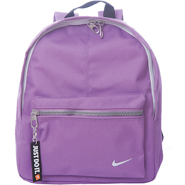 Рюкзак NIKEЧемоданы и дорожные сумки<br>Характеристики товара:<br><br>• цвет: фиолетовый;<br>• модель: Classic;<br>• состав: 100% полиэстер;<br>• сезон: круглый год;<br>• застёжка: молния;<br>• количество отделений: 1;<br>• внешний карман на молнии;<br>• мягкие регулируемые лямки для удобного ношения;<br>• вместительное основное отделение на молнии;<br>• ручка для подвешивания;<br>• размер рюкзака: 25,5х1,х32 см;<br>• страна бренда: США.<br><br>Детский рюкзак Nike Classic имеет небольшой размер и внешний карман на молнии для удобной и надежной организации вещей.<br><br>Рюкзак Nike (Найк) можно купить в нашем интернет-магазине.<br>Ширина мм: 227; Глубина мм: 11; Высота мм: 226; Вес г: 350; Цвет: разноцветный; Возраст от месяцев: 168; Возраст до месяцев: 1188; Пол: Унисекс; Возраст: Детский; Размер: one size; SKU: 8020266;