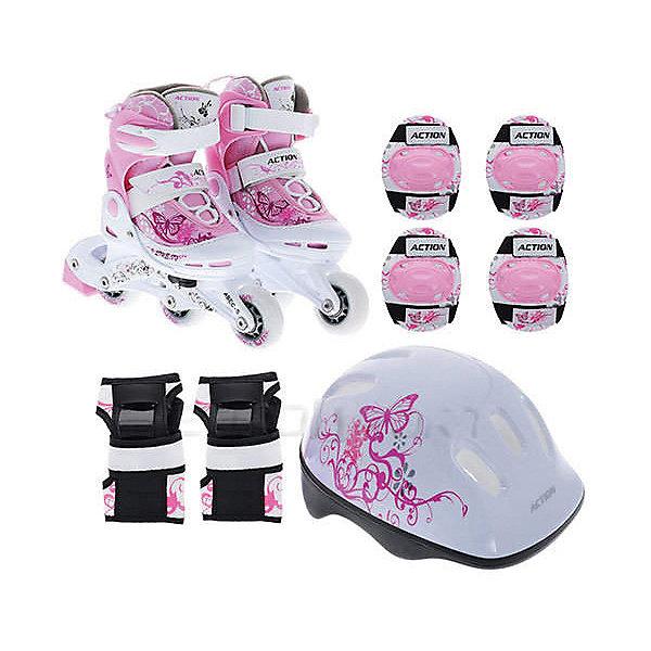 Фотография товара набор: коньки Action ролик, защита, шлем (8025057)