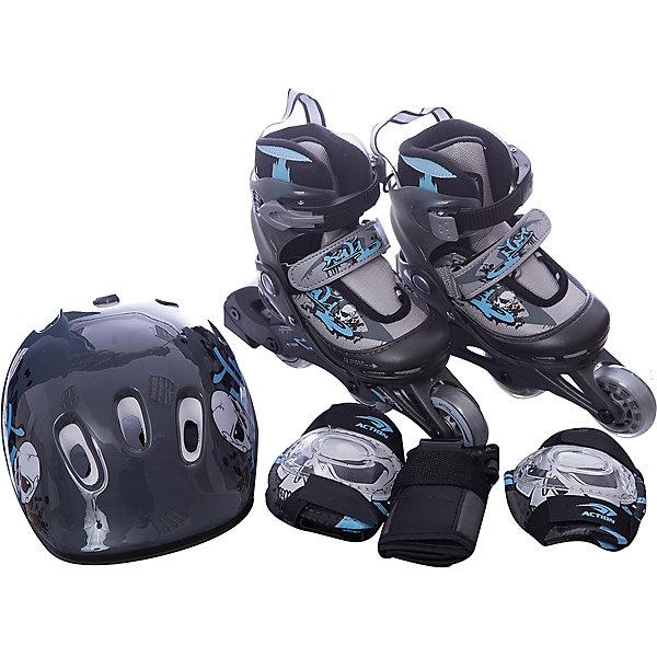 Фотография товара набор: коньки Action ролик, защита, шлем (8025059)