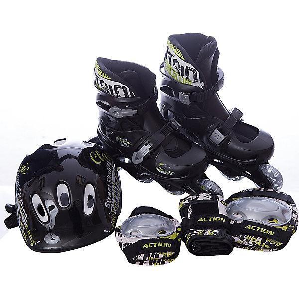 Фотография товара набор: коньки Action ролик, защита, шлем (8025063)
