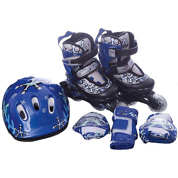 Фотография товара набор: коньки Action ролик, защита, шлем (8025080)