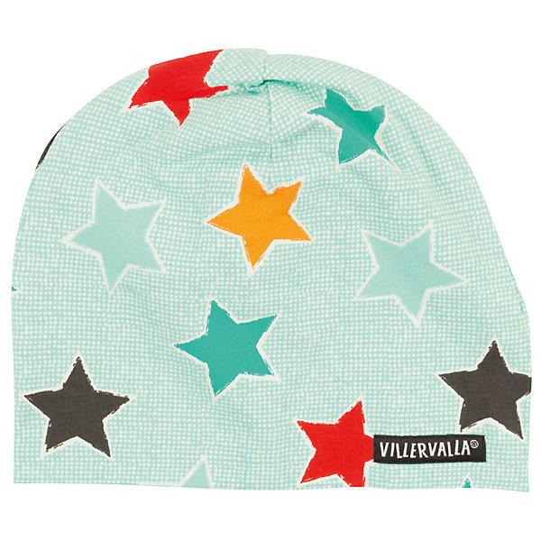 Шапка Villervalla для мальчикаГоловные уборы<br>Характеристики товара:<br><br>• цвет: зеленый<br>• состав ткани: 95% хлопок, 5 % эластан<br>• сезон: демисезон<br>• страна бренда: Дания<br><br>Удобная шапка для ребенка сделана из эластичного материала с преобладанием дышащего гипоаллергенного хлопка в составе. Детская шапка хорошо сочетается с верхней одеждой различных расцветок и стилей. Такая шапка для детей создана дизайнерами известного бренда Villervalla из Швеции. <br><br>Шапку Villervalla (Виллервалла) для мальчика можно купить в нашем интернет-магазине.<br>Ширина мм: 89; Глубина мм: 117; Высота мм: 44; Вес г: 155; Цвет: зеленый; Возраст от месяцев: 12; Возраст до месяцев: 18; Пол: Мужской; Возраст: Детский; Размер: 52-54,50-52,48-50,46-48; SKU: 8028826;