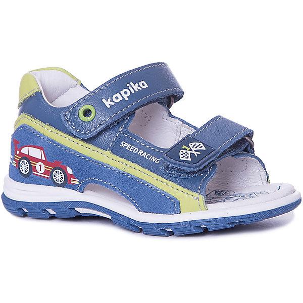 Kapika Сандалии Kapika для мальчика сандалии для мальчика bottilini цвет синий голубой so 096 8 размер 21 22 5