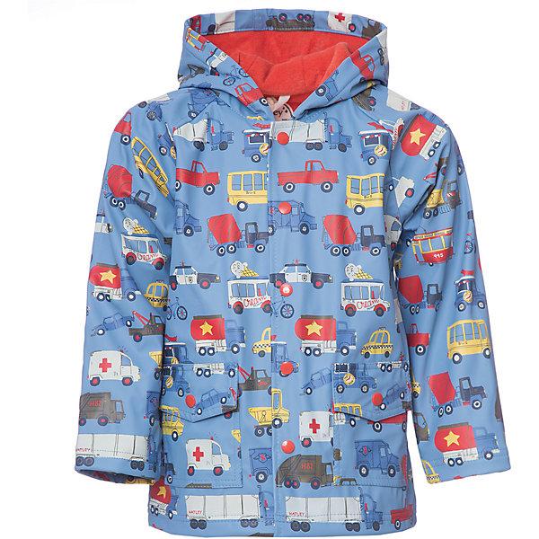 Плащ Hatley для мальчикаВерхняя одежда<br>Характеристики товара:<br><br>• цвет: голубой<br>• состав ткани: 100% полиуретан<br>• подкладка: 100% полиэстер<br>• утеплитель: нет <br>• сезон: демисезон<br>• температурный режим: от +10 до +20<br>• особенности модели: с капюшоном<br>• застежка: кнопки<br>• страна бренда: Канада<br><br>Непромокаемый детский плащ от Hatley имеет свободный удлиненный силуэт. Плащ для ребенка дополнен приятной на ощупь махровой подкладкой. Такой плащ для детей надежно защитит от сырости и ветра благодаря удобному капюшону и плотному материалу. <br><br>Плащ Hatley (Хатли) для мальчика можно купить в нашем интернет-магазине.<br>Ширина мм: 356; Глубина мм: 10; Высота мм: 245; Вес г: 519; Цвет: голубой; Возраст от месяцев: 36; Возраст до месяцев: 48; Пол: Мужской; Возраст: Детский; Размер: 104,92,116,110,98; SKU: 8036468;