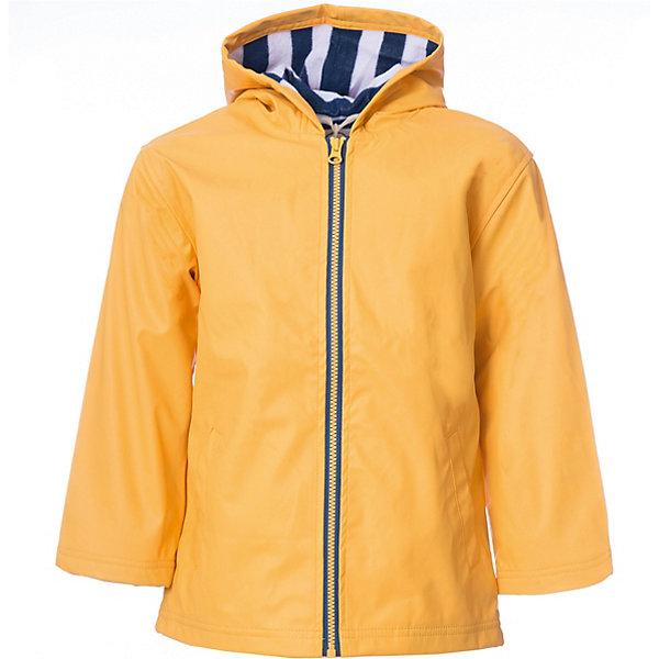 Плащ Hatley для мальчикаВерхняя одежда<br>Характеристики товара:<br><br>• цвет: желтый<br>• состав ткани: 100% полиуретан<br>• подкладка: 100% полиэстер<br>• утеплитель: нет <br>• сезон: демисезон<br>• температурный режим: от +10 до +20<br>• особенности модели: с капюшоном<br>• застежка: молния<br>• страна бренда: Канада<br><br>Непромокаемый детский плащ от Hatley имеет свободный удлиненный силуэт и застежку-молнию. Плащ для ребенка дополнен приятной на ощупь контрастной подкладкой. Такой плащ для детей надежно защитит от сырости и ветра благодаря удобному капюшону и плотному материалу. <br><br>Плащ Hatley (Хатли) для мальчика можно купить в нашем интернет-магазине.<br>Ширина мм: 356; Глубина мм: 10; Высота мм: 245; Вес г: 519; Цвет: желтый; Возраст от месяцев: 18; Возраст до месяцев: 24; Пол: Мужской; Возраст: Детский; Размер: 92,116,110,104,98; SKU: 8036505;