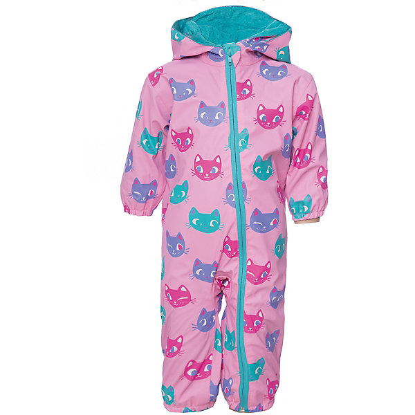 Комбинезон Hatley для девочкиВерхняя одежда<br>Характеристики товара:<br><br>• цвет: розовый<br>• состав ткани: 100% полиуретан<br>• подкладка: 100% полиэстер<br>• утеплитель: нет <br>• сезон: демисезон<br>• температурный режим: от +10 до +20<br>• особенности модели: с капюшоном<br>• застежка: молния<br>• длинные рукава<br>• штрипки<br>• страна бренда: Канада<br><br>Оригинальный детский комбинезон легко надевается благодаря длинной молнии с защитой подбородка от защемления. Непромокаемый комбинезон для ребенка стильно смотрится - он украшен ярким принтом. Комбинезон для детей от известного канадского бренда Hatley отличается отлично проработанными деталями: штрипками, капюшоном, мягкой махровой подкладкой. <br><br>Комбинезон Hatley (Хатли) для девочки можно купить в нашем интернет-магазине.<br>Ширина мм: 356; Глубина мм: 10; Высота мм: 245; Вес г: 519; Цвет: розовый; Возраст от месяцев: 12; Возраст до месяцев: 15; Пол: Женский; Возраст: Детский; Размер: 74/80,86/92; SKU: 8036520;