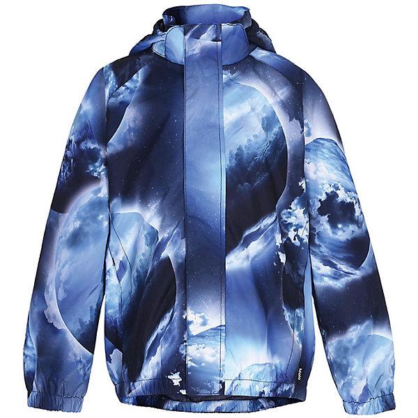 Куртка Molo для мальчикаВерхняя одежда<br>Характеристики товара:<br><br>• цвет: синий/принт<br>• состав ткани: 100% полиэстер<br>• подкладка: 100% полиэстер<br>• водонепроницаемость: 5000 мм<br>• паропроводимость: 5000 гм224 часа <br>• сезон: демисезон<br>• температурный режим: от +10<br>• застежка: молния<br>• боковые карманы<br>• защита подбородка<br>• воротник-стойка<br>• капюшон: съемный<br>• космический принт <br>• светоотражающие элементы<br>• бренд, страна бренда: Molo, Дания<br><br>Куртка для мальчика от датского бренда Molo станет идеальным вариантом для активных прогулок в межсезонье! Модель выполнена в красивой локаничной расцветке с космическим принтом, обладаем большим количеством фукциональных возможностей: капюшон отстегивается с помощью липучек, защитная планка молнии на кнопках, защита подбородка от защемления, карманы на липучке, манжеты и подол на резинке, светоотражающие элементы. Внешняя ткань с водо-грязеотталкивающей пропиткой защищает от ветра и дождя. Куртка Molo отлично сидит по фигиуре и стильно смотрится. <br> <br>Бренд Molo создает коллекции стильной и качественной одежды для мальчиков и девочек. Эта марка выбрала для себя городской стиль, смесь веселья и остроумных деталей. <br><br>Куртка Molo (Моло) для мальчика можно купить в нашем интернет-магазине.<br>Ширина мм: 356; Глубина мм: 10; Высота мм: 245; Вес г: 519; Цвет: синий; Возраст от месяцев: 24; Возраст до месяцев: 36; Пол: Мужской; Возраст: Детский; Размер: 92/98,146/152,134/140,122/128,110/116,98/104; SKU: 8037904;