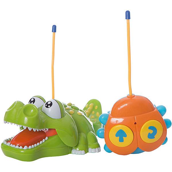 Радиоуправляемая игрушка Жирафики  Крокодильчик,свет, музыкаДругие радиуправляемые игрушки<br>Характеристики:<br><br>• возраст: от 3 лет;<br>• материал: пластик, металл; <br>• комплектация: крокодильчик, пульт управления;<br>• тип батареек:  5 x AA / LR6 1.5V ;<br>• наличие батареек: не входят в комплект;<br>• диаметр пульта: 11х10 см;<br>• размер: 21х13х8,5 см;<br>• вес: 650 гр;<br>• страна бренда: Россия;<br>• бренд: Жирафики.<br><br><br>Радиоуправляемая игрушка Жирафики «Крокодильчик», свет, музыка сможет приятно удивить и мальчиков, и девочек, а также подарит своему маленькому обладателю море позитива и хорошее настроение. В отличие от живых крокодилов, данная рептилия совсем не грозная, а даже наоборот - милая и забавная, благодаря чему полюбится ребенку, а звуковые эффекты сделают игры с участием этого милого создания еще более веселыми и увлекательными.<br><br>Радиоуправляемую игрушку Жирафики «Крокодильчик» ,свет, музыка можно купить в нашем интернет-магазине.<br>Ширина мм: 265; Глубина мм: 165; Высота мм: 155; Вес г: 650; Возраст от месяцев: 18; Возраст до месяцев: 2147483647; Пол: Унисекс; Возраст: Детский; SKU: 8042790;
