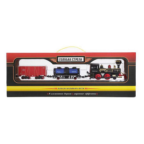 Голубая стрела Железная дорога Голубая стрела Товарный поезд, 240 см играем вместе железная дорога ржд товарный поезд