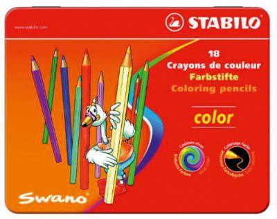 Набор цветных карандашей Stabilo, 18 цветов, в металлическом футляре, артикул:8058273 - Рисование и раскрашивание