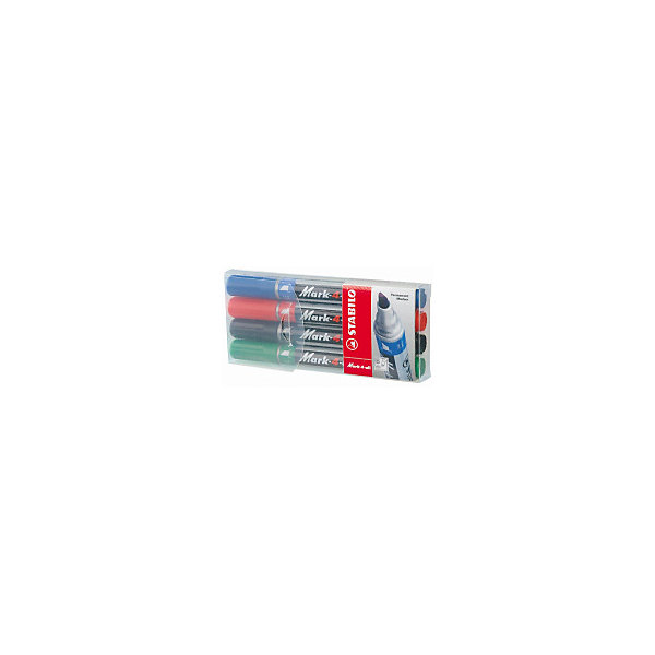 STABILO Набор перманентных маркеров Stabilo Mark-4-All 1-4 мм, 4 шт stabilo набор маркеров boss mini pastel love 3 цвета 07 03 47
