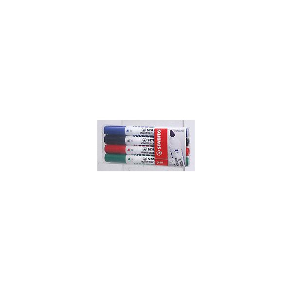 Купить Набор маркеров для досок Stabilo Plan 1-5 мм, 4 шт, Германия, разноцветный, Унисекс