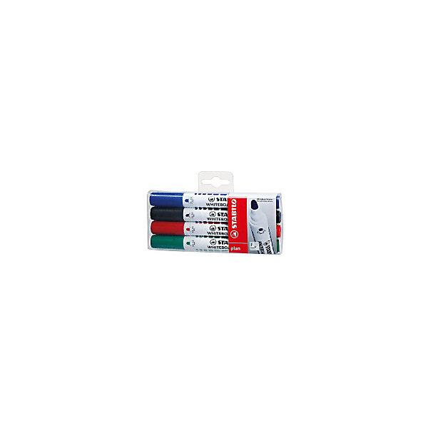 Купить Набор маркеров для досок Stabilo Plan 2, 5-3, 5 мм, 4 шт, Германия, разноцветный, Унисекс